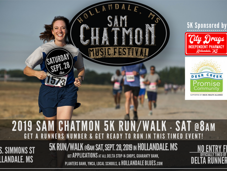 Run in the Sam Chatmon 5K and Get a free Tee Shirt!