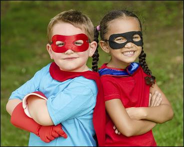 Superheroes spotted at the Mansfield Area Y