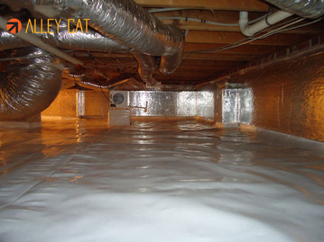 Crawl space cleaning in Oakland, Berkeley & Walnut Creek, CA.
