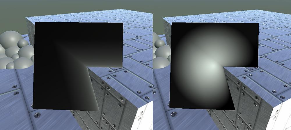 Scene Depth Gradient Subtracting From Circle Gradient.