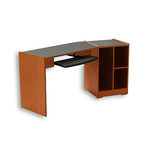 Single Angled Desk with Taboret - Contemporary