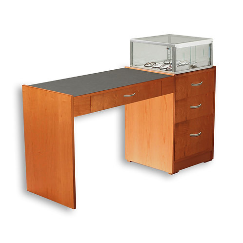Single Straight Desk with Taboret - Contemporary