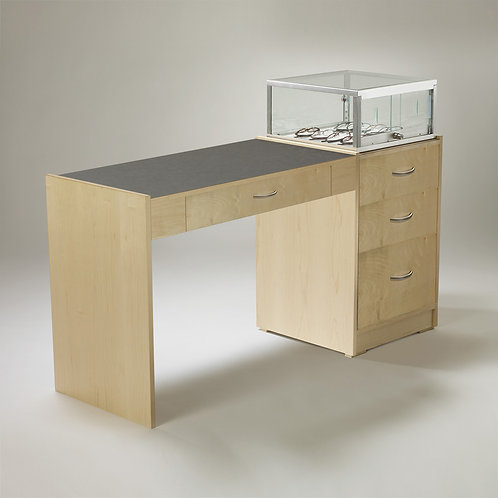 Single Straight Desk with Taboret