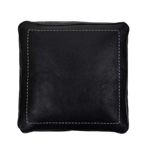 pouffe noir carré