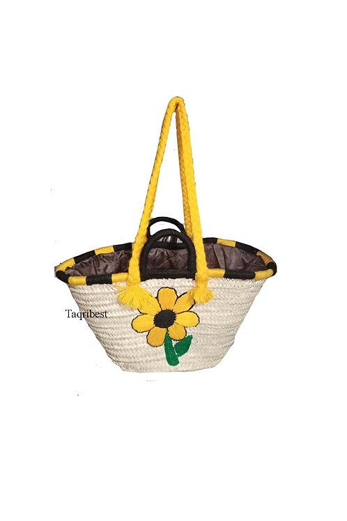 sac femme fleur avec motif jaune
