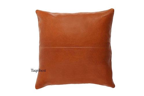 poussin  en cuir  marron carré