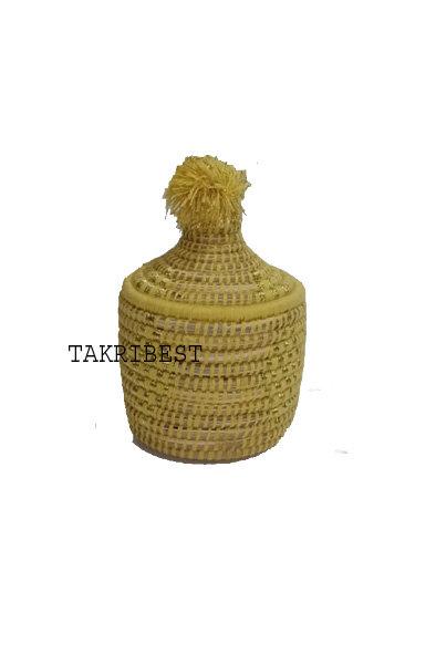 panier berbère jaune