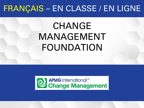 Certification Change Management Fondation (Français)