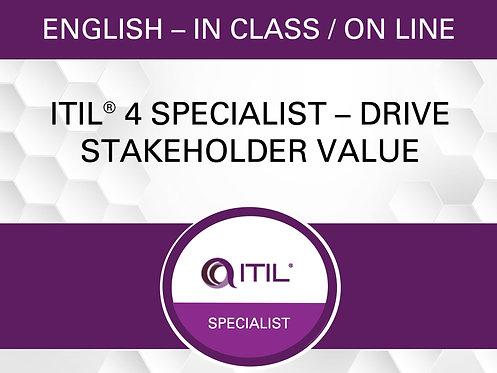 ITIL® 4 Spécialiste - Diriger la valeur des parties prenantes