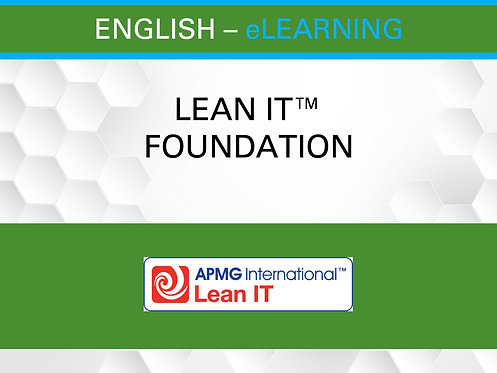 Lean IT™ Foundation Certification eLearning