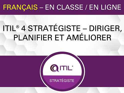 ITIL® 4 Strategist – Direct, Plan and Improve (French)
