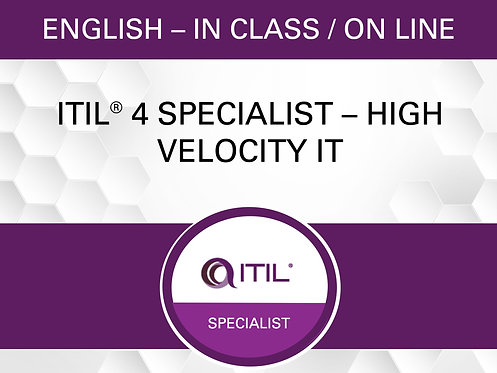 ITIL® 4 Specialist – High Velocity IT