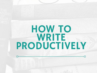 How to Write Productively