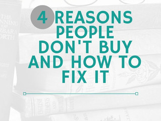 The 4 Reasons People Don't Buy Your Book and How to Fix Them