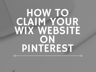 How To Claim Your Wix Website on Pinterest