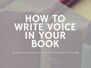 How to Write Voice in Your Book