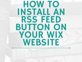 How to Install an RSS Button on your Wix Blog