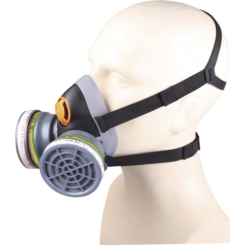 half mask respirator with ABEK1 & P3 filters
