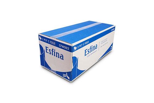 Esfina 2 Ply C-Fold Hand Towel White CFW002