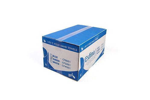 Esfina 1 Ply C-Fold Hand Towels Green CFG001
