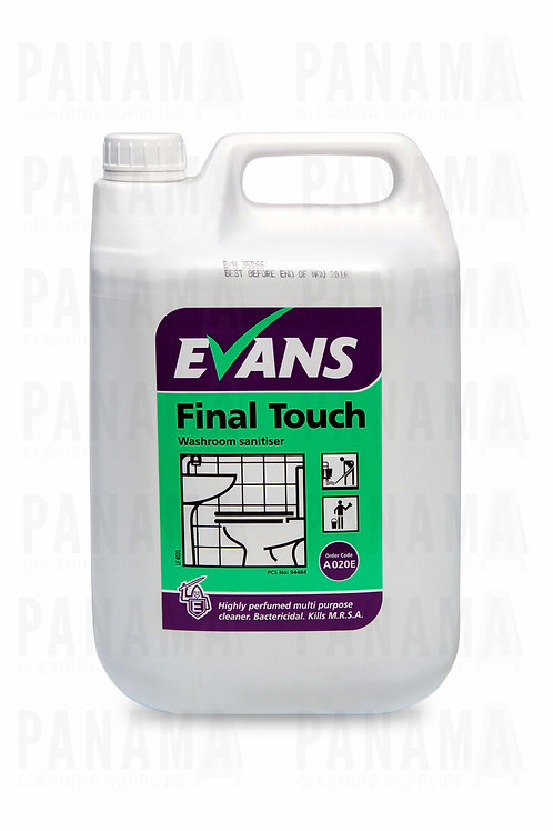 Evans Final Touch® Washroom Sanitiser 5 Litre
