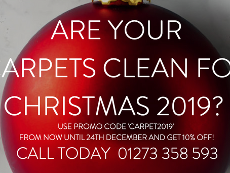 Brighton Carpet Cleaning Christmas 2019 Promotion.