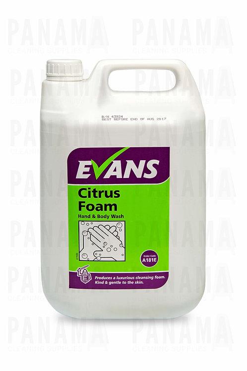 Evans Citrus Foam® Hand & Body Wash5 Litre