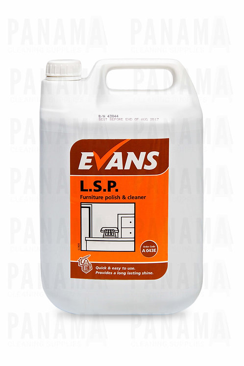 Evans L.S.P® Furniture Polish & Cleaner 5 Litre