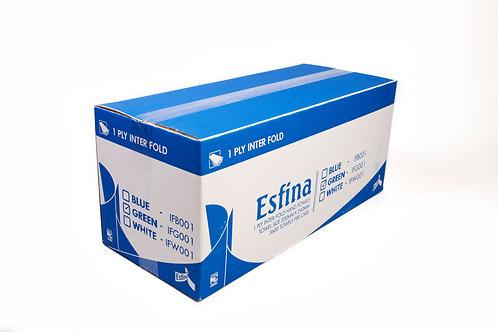 Esfina 1 Ply Interfold Hand Towel Green IFG001