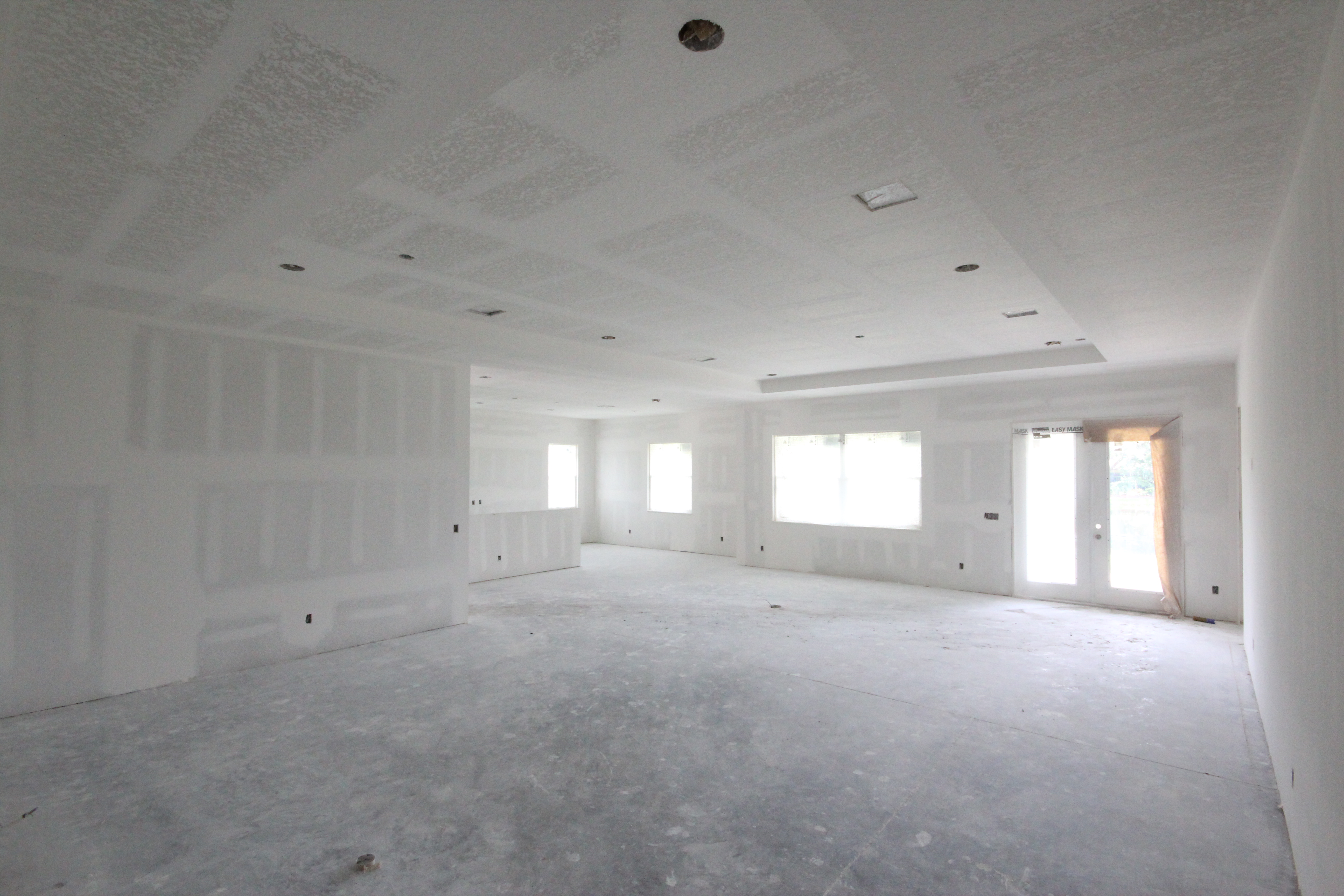 GREATROOM - Drywall ready for paint