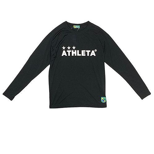 アスレタ ATHLETA プラクティスロンT ブラック サッカー フットサル 長袖 プラクティスシャツ 練習着 03327 70