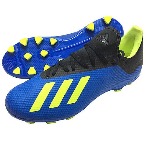 アディダス adidas エックス 18.3HG/AG サッカーシューズ サッカースパイク サッカー フットボールブルー×ソーラーイエロー BB6955
