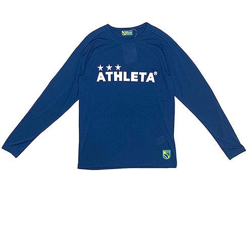 アスレタ ATHLETA プラクティスロンT ネイビー サッカー フットサル 長袖 プラクティスシャツ 練習着 03327 90