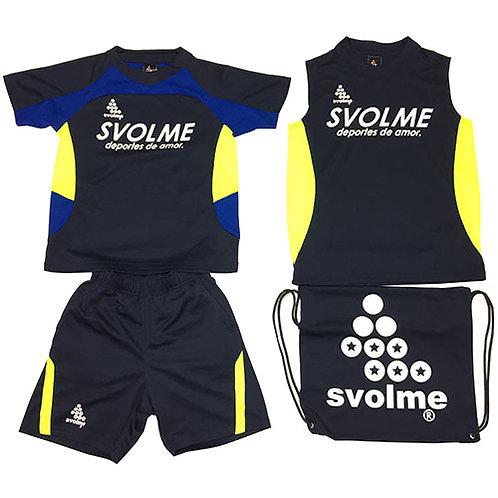 スボルメ SVOLME ジュニア アイスサマーパック サッカー JRプラシャツプラパンセット 4点セット ネイビー 18291909NVY