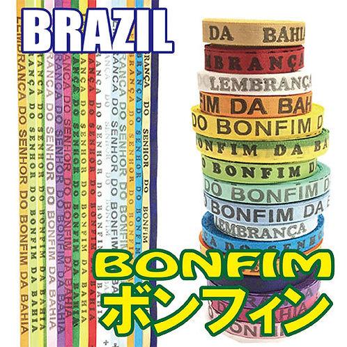 ボンフィン BONFIM 選べる全18色 サッカー フットサル ブラジル ミサンガ 約41~47cm