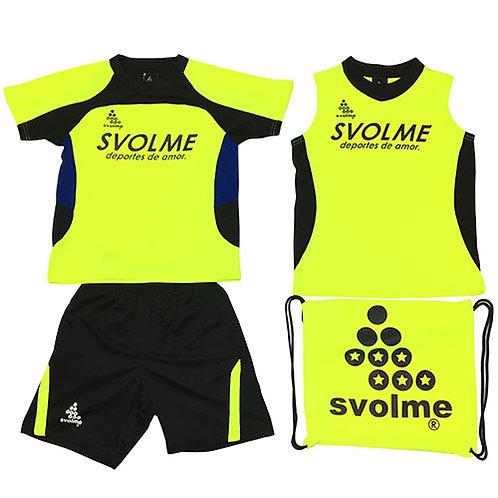 スボルメ SVOLME ジュニア アイスサマーパック サッカー JRプラシャツプラパンセット 4点セット ライム 18291909LIME