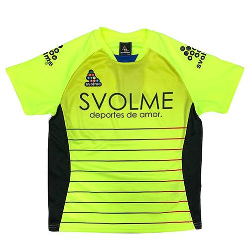 スボルメ SVOLME ジュニア ボーダーTRトップ ライム サッカー フットサル プラクティスシャツ 半袖 練習着 1191 23200 LIME