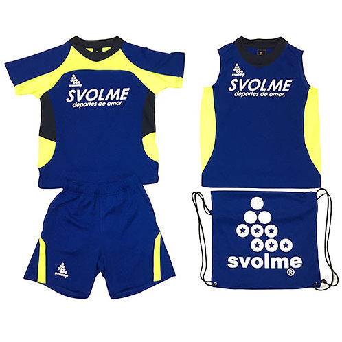 スボルメ SVOLME ジュニア アイスサマーパック サッカー JRプラシャツプラパンセット 4点セット ブルー 18291909 BLU