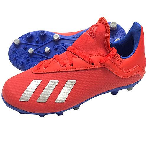 アディダス adidas ジュニア エックス18.3 ジャパン HG/AG J サッカースパイク サッカーシューズ アクティブレッド×シルバーメットF97352