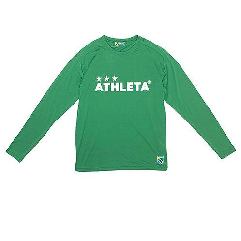 アスレタ ATHLETA プラクティスロンT Dグリーン サッカー フットサル 長袖 プラクティスシャツ 練習着 03327 30