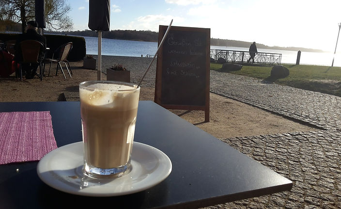 Cappucino am Ruppiner See