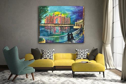 """""""Atlantis Dubai"""" Acrylic painting"""
