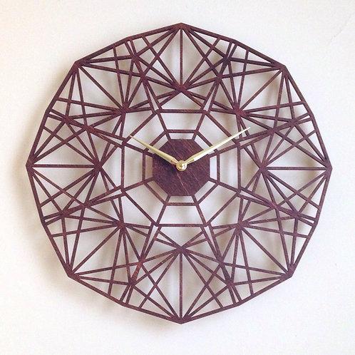 laser cut wooden clock