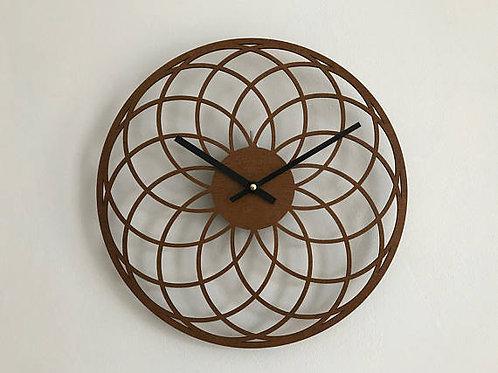 laser cut art deco wooden clock