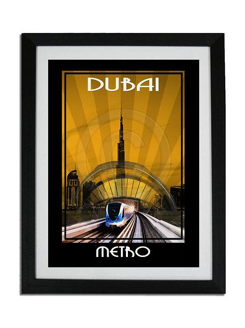 DUBAI METRO SKYLINE PRINT
