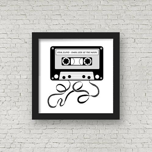 Personalised Retro Cassette label framed