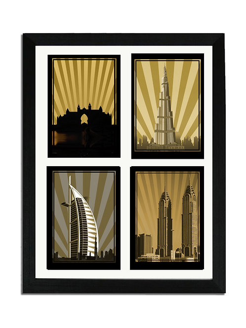 DUBAI POSTCARD COLLECTION SEPIA (SQ)