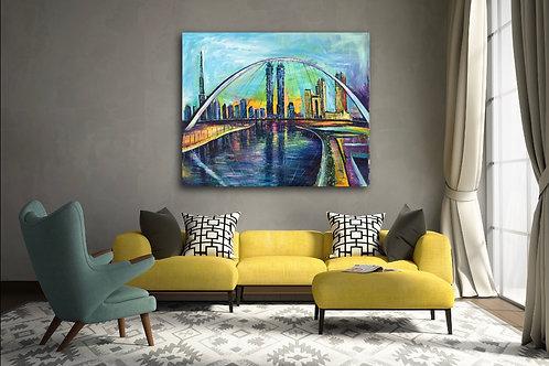 """Tolerance Bridge Dubai"" Acrylic painting"