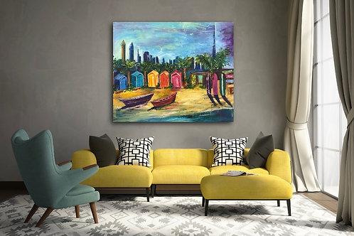 """La Mer Dubai"" Acrylic painting"