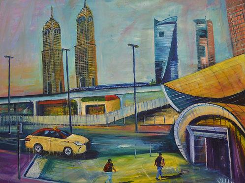 """Barsha Heights"" Acrylic painting"